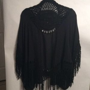 Vintage Black Kimono Jacket